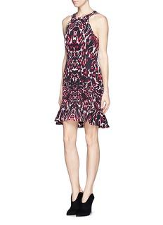 MCQ ALEXANDER MCQUEENPixel leopard print trumpet dress