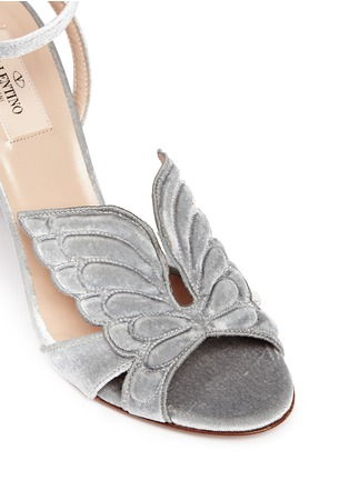 Detail View - Click To Enlarge - Valentino - 'Angelicouture' angel wing velvet sandals