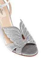 'Angelicouture' angel wing velvet sandals