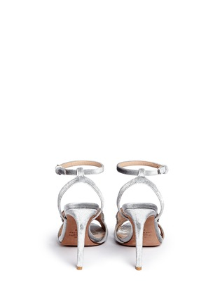 Back View - Click To Enlarge - Valentino - 'Angelicouture' angel wing velvet sandals
