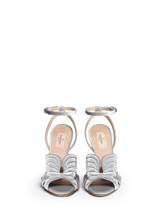 Figure View - Click To Enlarge - Valentino - 'Angelicouture' angel wing velvet sandals