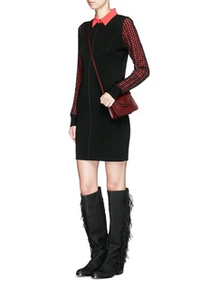 SEE BY CHLOÉ Eyelet lace wool knit dress