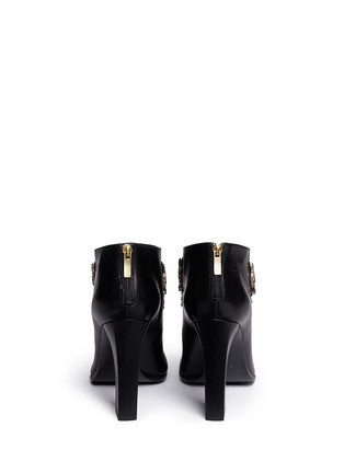 Back View - Click To Enlarge - René Caovilla - Strass appliqué leather ankle boots