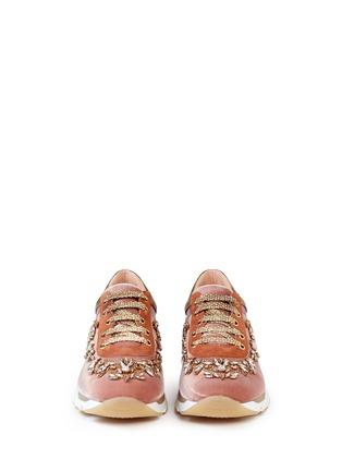 Figure View - Click To Enlarge - René Caovilla - Strass appliqué mix trim velvet sneakers