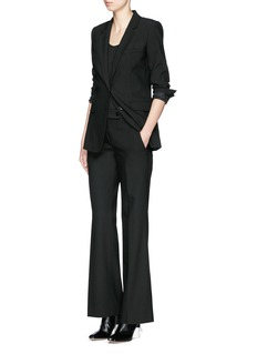 HELMUT LANG Back vent stretch gabardine pants