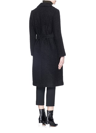 Back View - Click To Enlarge - Helmut Lang - Shaggy alpaca wool coat
