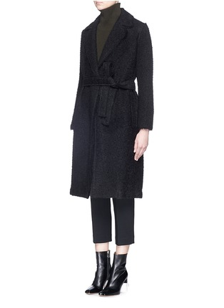 Front View - Click To Enlarge - Helmut Lang - Shaggy alpaca wool coat
