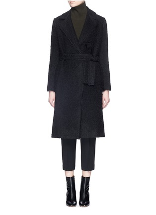 Main View - Click To Enlarge - Helmut Lang - Shaggy alpaca wool coat