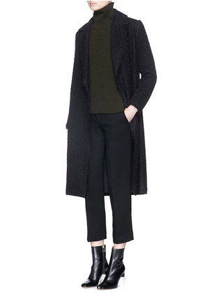 Figure View - Click To Enlarge - Helmut Lang - Shaggy alpaca wool coat