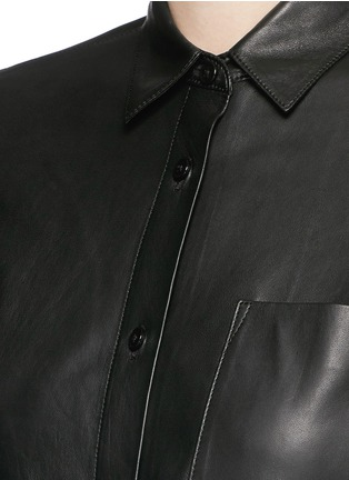Detail View - Click To Enlarge - Helmut Lang - Lamb leather shirt
