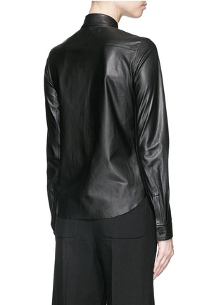 Back View - Click To Enlarge - Helmut Lang - Lamb leather shirt