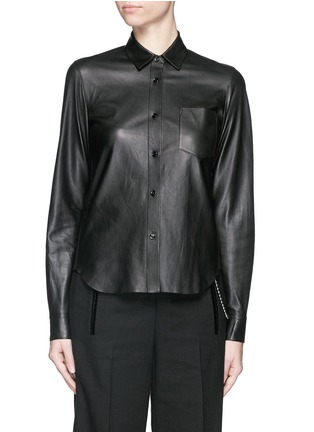Main View - Click To Enlarge - Helmut Lang - Lamb leather shirt