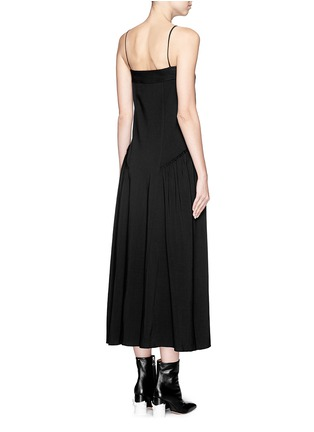 Back View - Click To Enlarge - Helmut Lang - Matte twill midi dress
