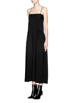 Front View - Click To Enlarge - Helmut Lang - Matte twill midi dress