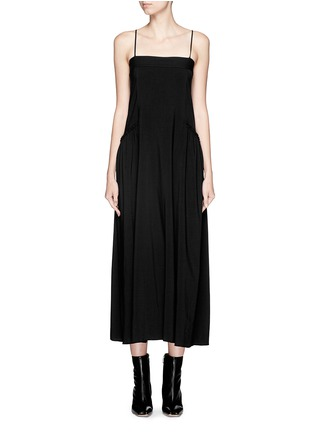 Main View - Click To Enlarge - Helmut Lang - Matte twill midi dress