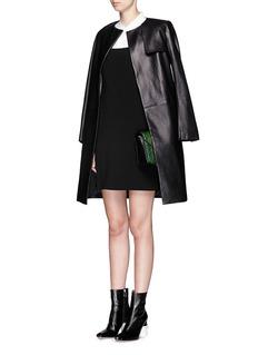 HELMUT LANGRaw edge strap stretch crepe dress