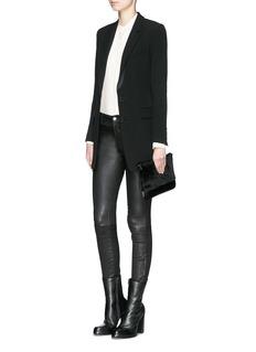 HELMUT LANGNotched lapel stretch suit blazer