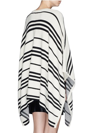 Back View - Click To Enlarge - alice + olivia - 'Raelyn' stripe handkerchief poncho