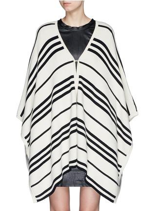 Main View - Click To Enlarge - alice + olivia - 'Raelyn' stripe handkerchief poncho