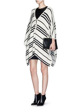 Figure View - Click To Enlarge - alice + olivia - 'Raelyn' stripe handkerchief poncho