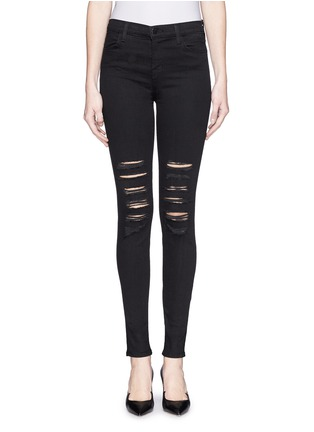 Main View - Click To Enlarge - J Brand - 'Photo Ready Maria' distressed skinny jeans