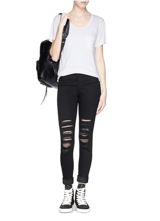 Figure View - Click To Enlarge - J Brand - 'Photo Ready Maria' distressed skinny jeans