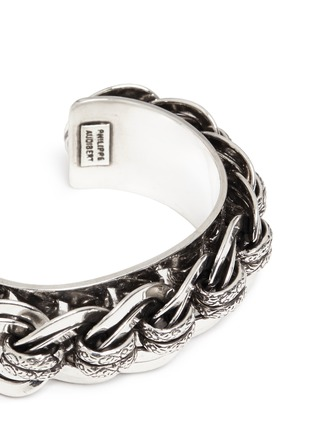 Detail View - Click To Enlarge - Philippe Audibert - 'Chedi' silver chain cuff