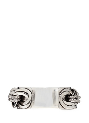 Back View - Click To Enlarge - Philippe Audibert - 'Chedi' silver chain cuff