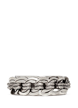 Main View - Click To Enlarge - Philippe Audibert - 'Chedi' silver chain cuff