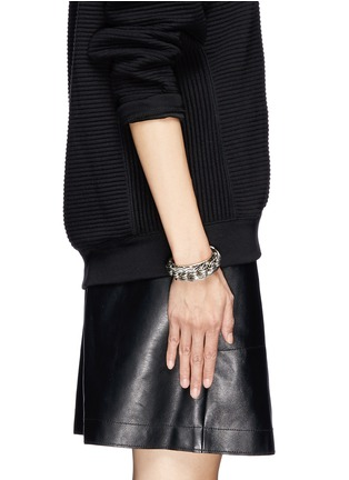 Figure View - Click To Enlarge - Philippe Audibert - 'Chedi' silver chain cuff