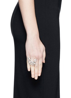 Stephen Webster 'Fly By Night' diamond 18k white gold large batmoth ring