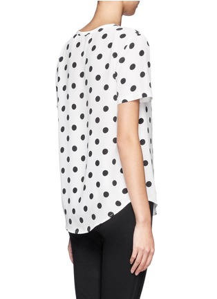 Back View - Click To Enlarge - Equipment - Riley polka dot silk top