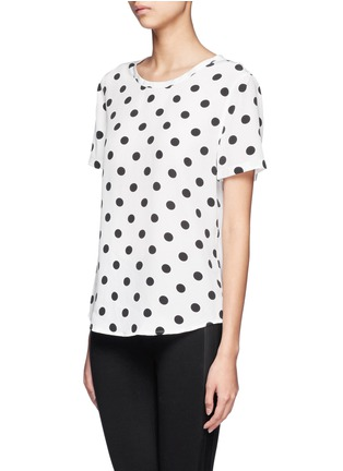 Front View - Click To Enlarge - Equipment - Riley polka dot silk top