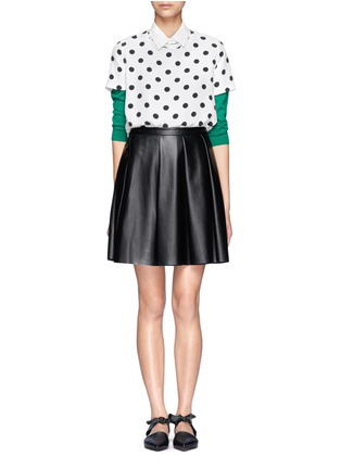 Figure View - Click To Enlarge - Equipment - Riley polka dot silk top