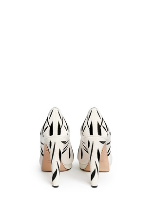 Back View - Click To Enlarge - Charlotte Olympia - 'Mei Xiang' panda velvet platform pumps