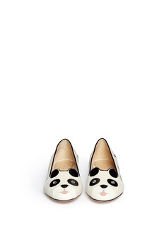 CHARLOTTE OLYMPIA'Panda' velvet flats