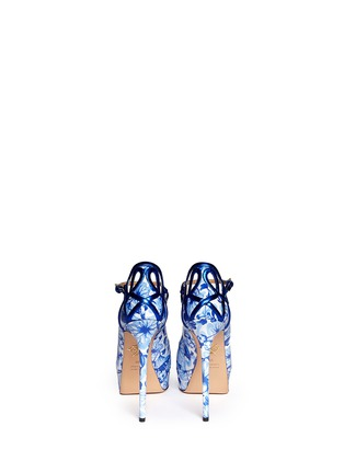 Back View - Click To Enlarge - Charlotte Olympia - 'Sabrina' koi print patent leather platform pumps