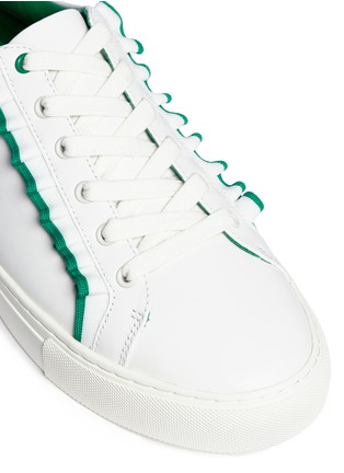 Detail View - Click To Enlarge - Tory Burch - Tory Sport ruffled leather sneakers