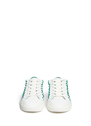 Front View - Click To Enlarge - Tory Burch - Tory Sport ruffled leather sneakers