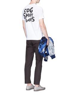 Comme Des Garçons ShirtLogo print cotton T-shirt