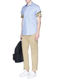 Comme Des Garçons ShirtCamouflage sleeve stripe cotton shirt