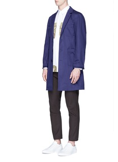 Comme Des Garçons ShirtLogo print cotton twill coat