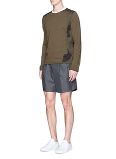 Comme Des Garçons ShirtCamouflage patchwork sweater
