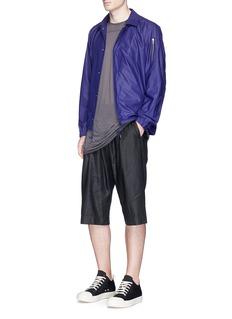 ATTACHMENTDrawstring pleated twill shorts