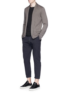 ATTACHMENT Shawl collar cotton jersey cardigan