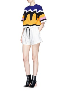 Emilio Pucci Bonded wavy stripe cropped T-shirt