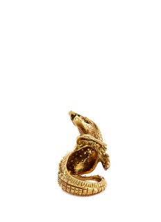 Delfina Delettrez Diamond 18k yellow gold crocodile ring