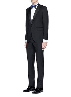 LanvinSatin trim wool-mohair tuxedo suit