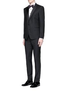 LanvinSatin trim wool tuxedo pants