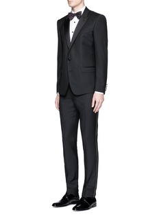 Lanvin Glass crystal button tuxedo shirt
